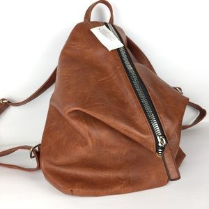 Bags - Vegan aged leather modern backpack